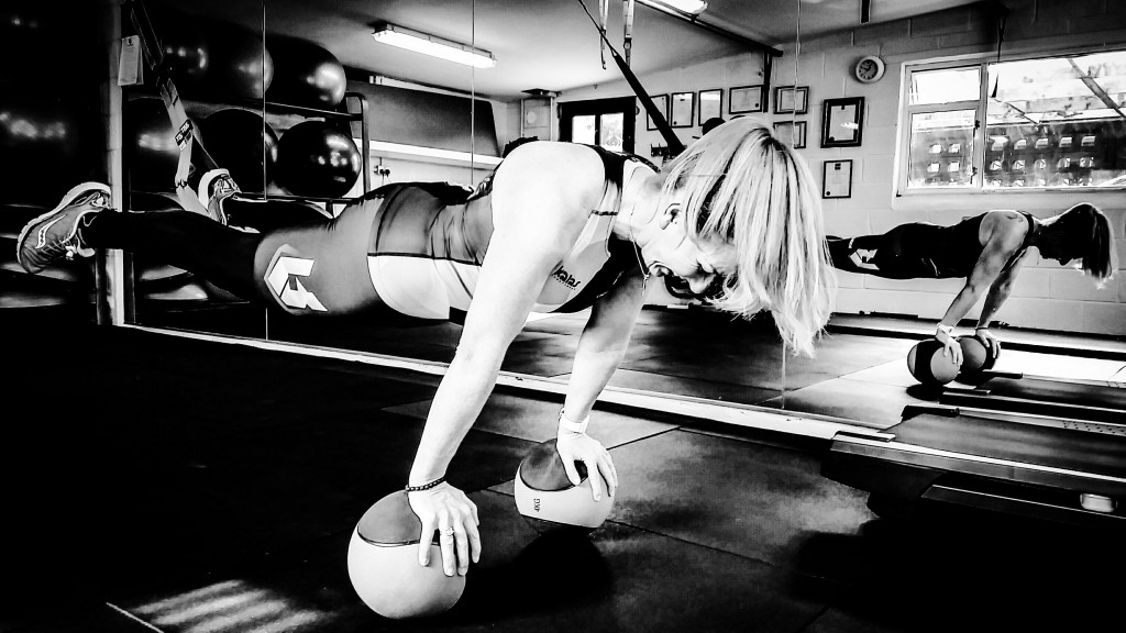 TRX plank and ball